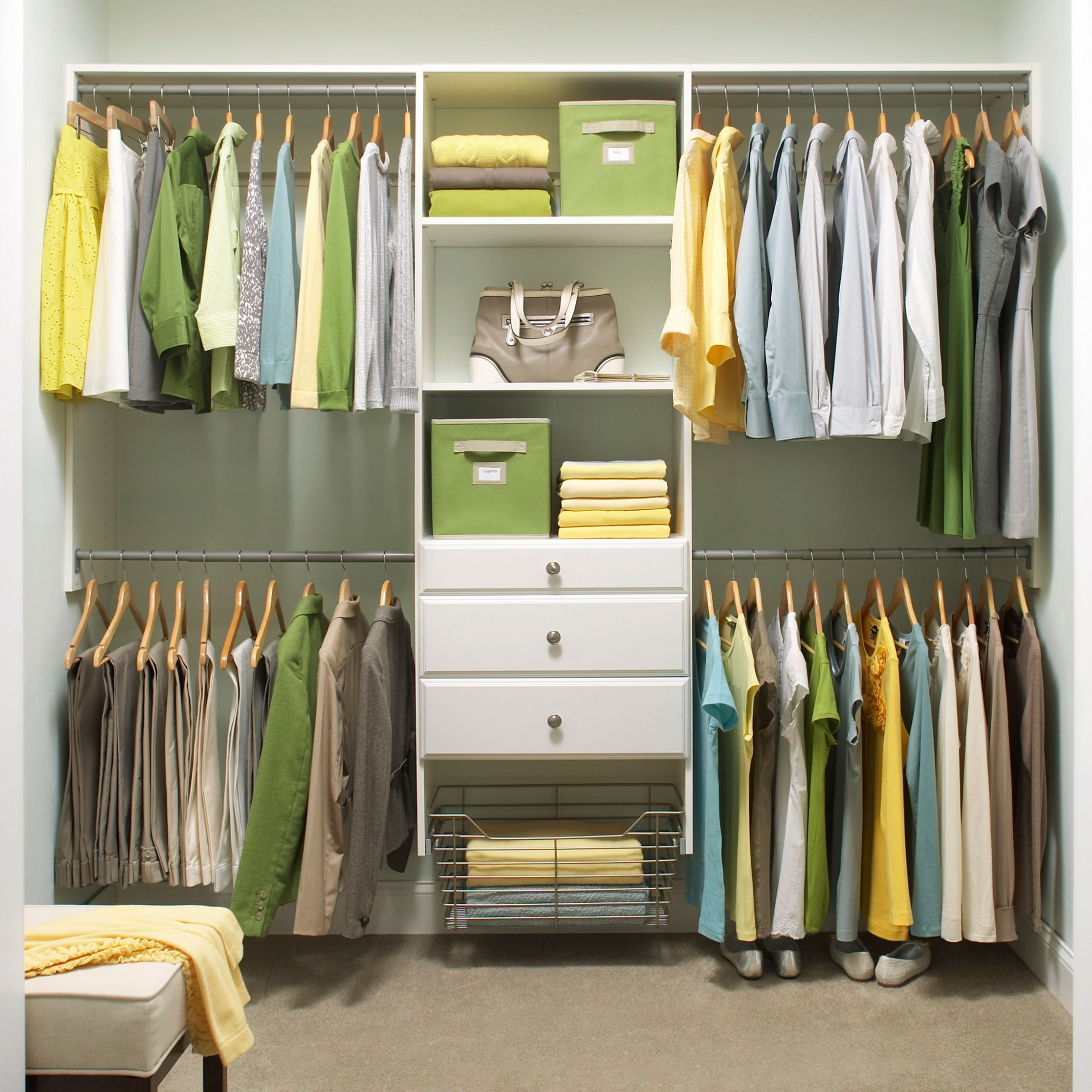 4 ways to think outside the closet martha stewart for Organized walk in closet
