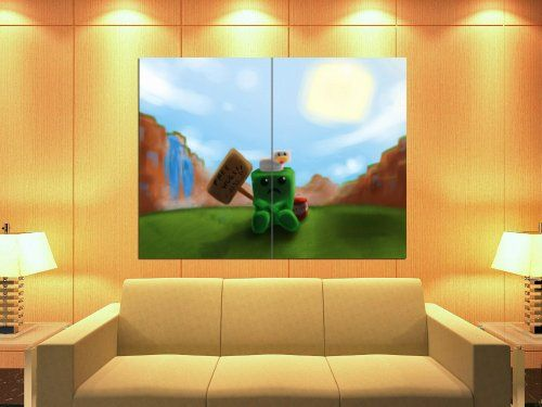 XH2530 Dull Creeper Chicken Minecraft TNT Free Hugs HUGE GIANT WALL Reprint POSTER Shinyposters