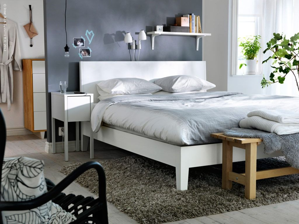 Nordli bed and side table by Ola Wihlborg for Ikea.   Casa Francia ...