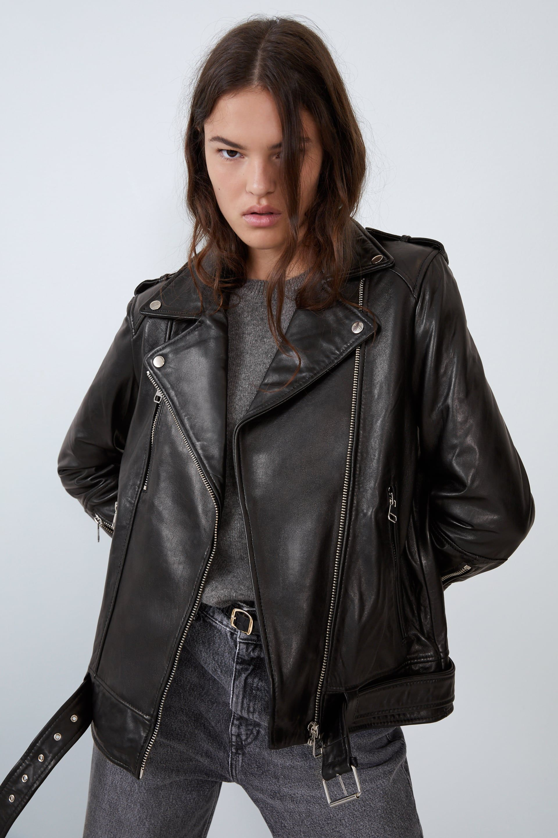 OVERSIZED LEATHER JACKET JACKETSWOMAN ZARA Canada