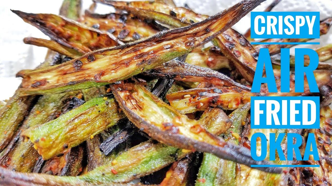 Air Fryer Okra, AIR FRIED OKRA, air fryer recipes, Ninja