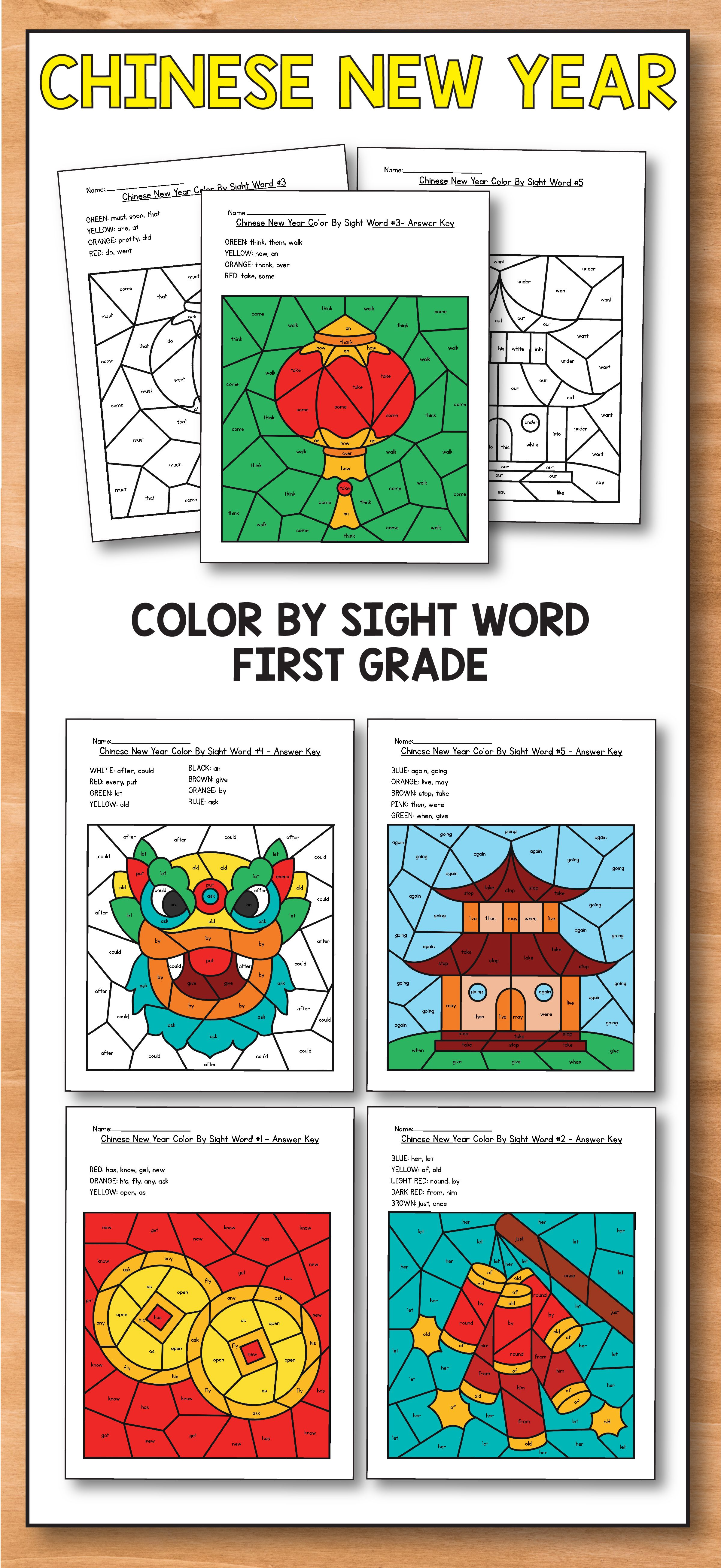 Chinese New Year Activities Chinese New Year Coloring