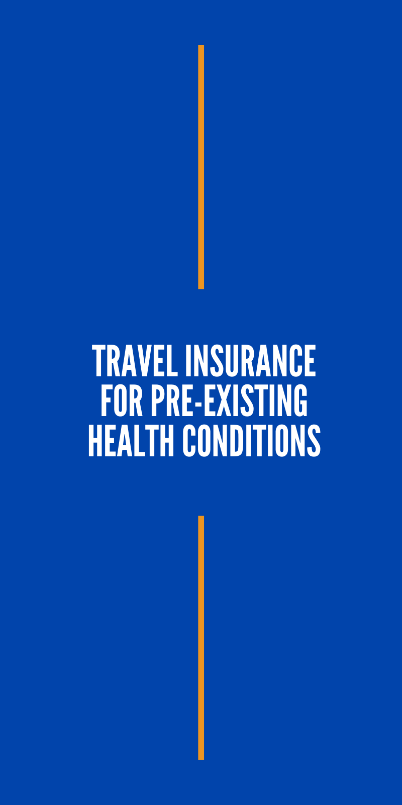 Travel Insurance For Pre Existing Health Conditions Health