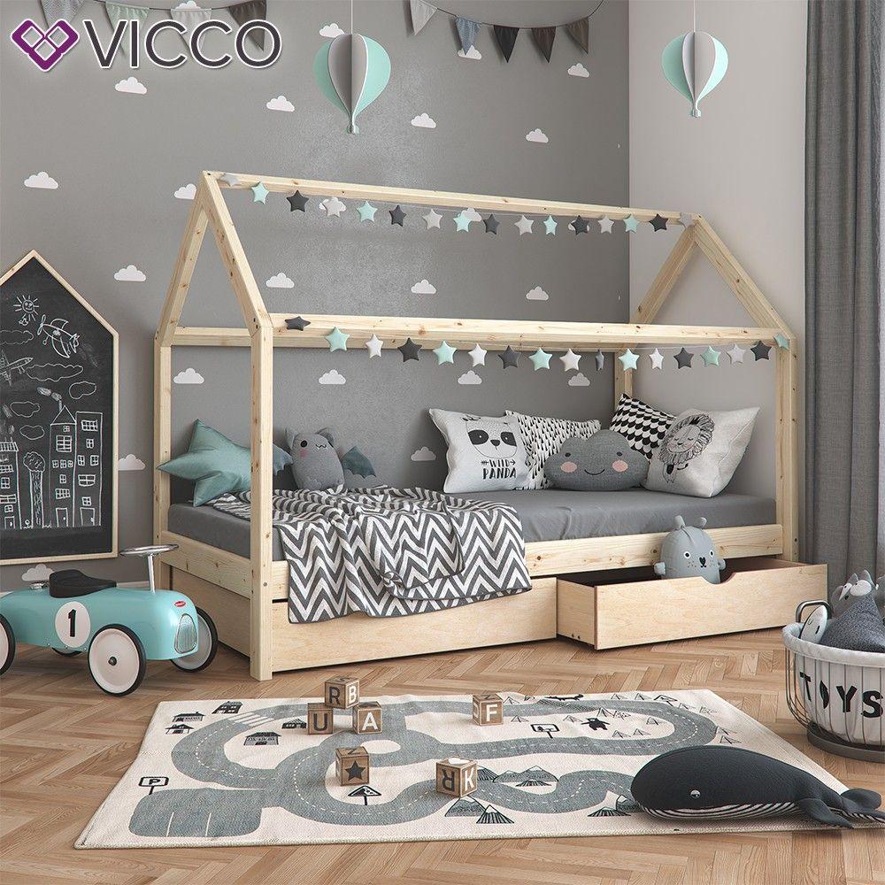 VitaliSpa Kinderbett WIKI 90x200cm unbehandelt Spielbett