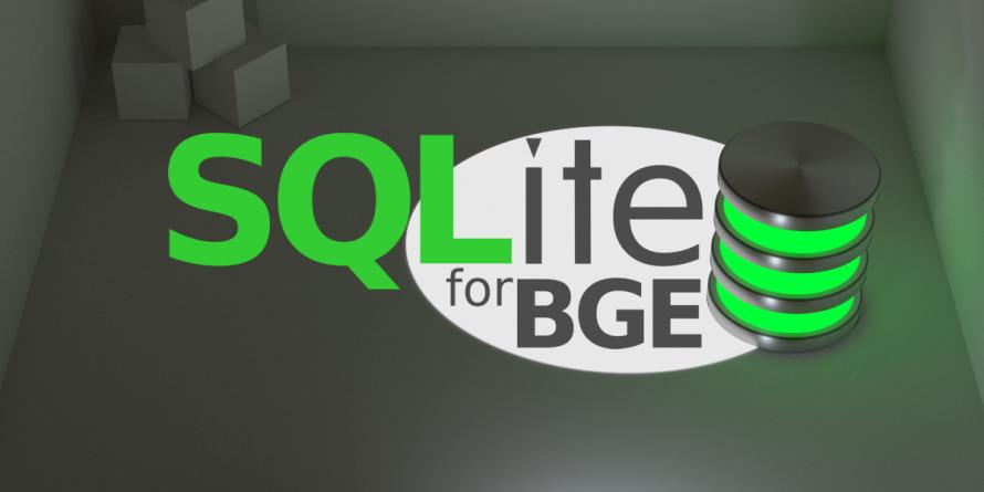 SQLite Addon for Blender Game Engine - collection of Blender