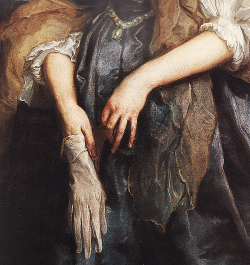 Anthony van Dyck (1599-1641): Lady Anne Carr, Countess of Bedford (detail), c. 1638