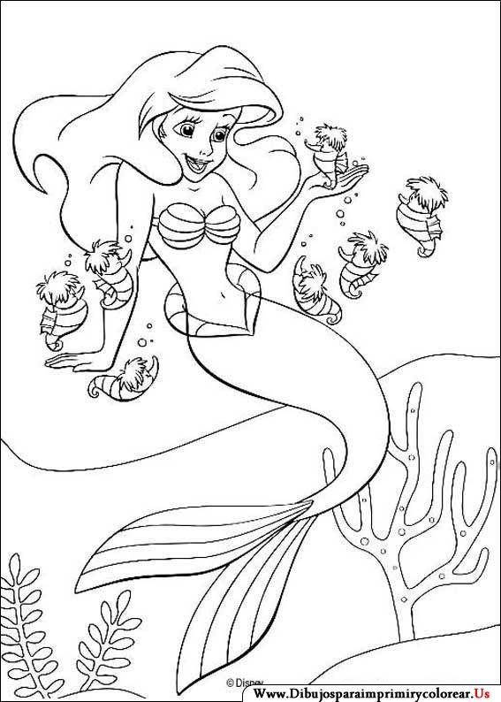 Dibujos De La Sirenita Para Imprimir Y Colorear Sirenita Ariel