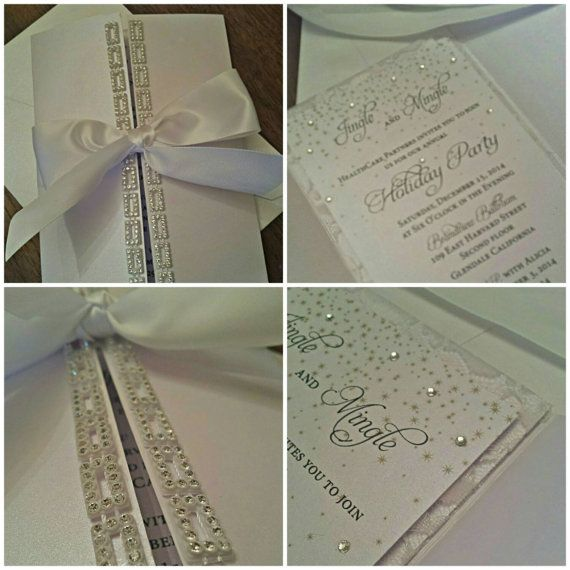 Crystal Wedding Invitation White On White By AmiraDesign On Etsy · Elegant  Wedding InvitationsWedding ...