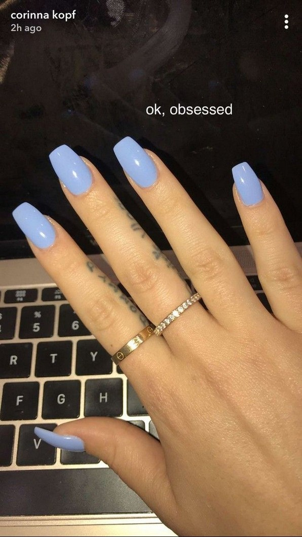 96 Simple Short Acrylic Summer Nails Designs For 2019 You Must Try 65 Acrylic Nails Coffin Short White Acrylic Nails Blue Acrylic Nails