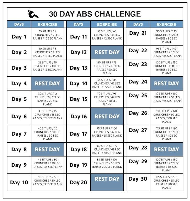 workout calendar template 30 day abs workout challenge workout