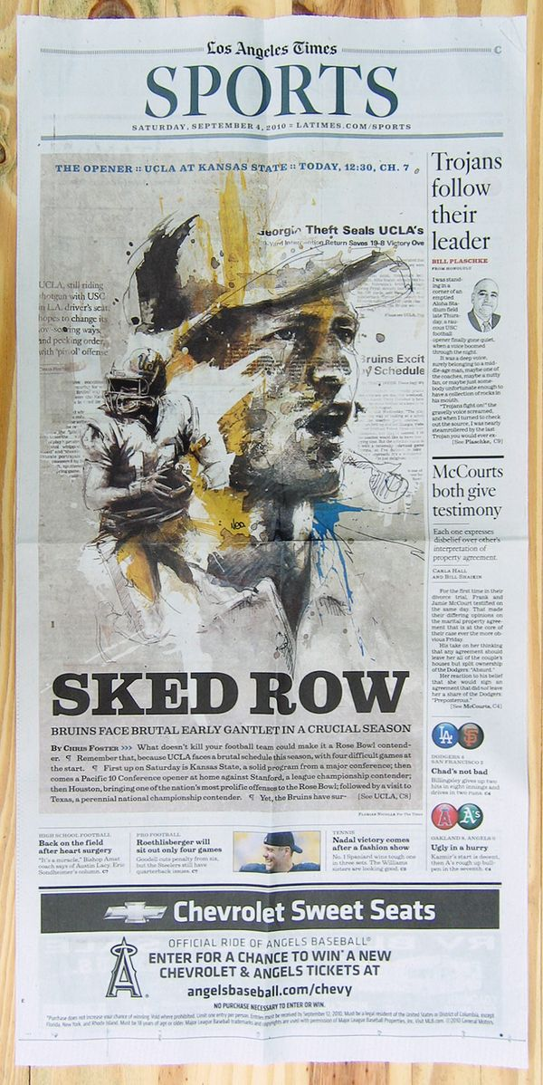 Los Angeles Times by Florian NICOLLE, via Behance
