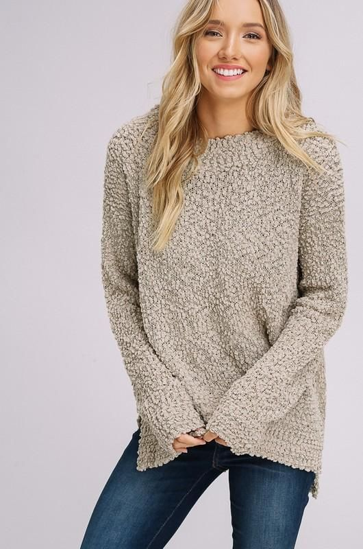 Light Olive Pullover Plush Popcorn Sweater By Listicle In 2019