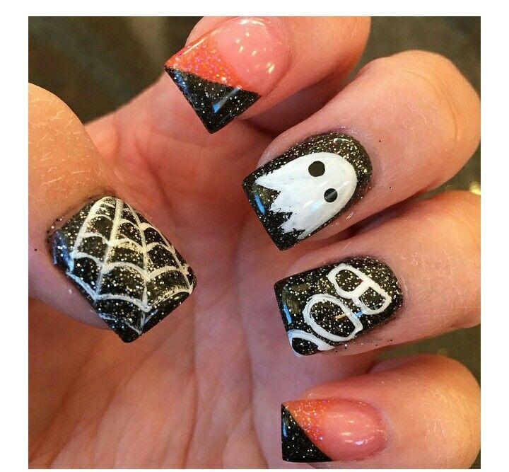 Halloween | Black halloween nails, Halloween nails ...