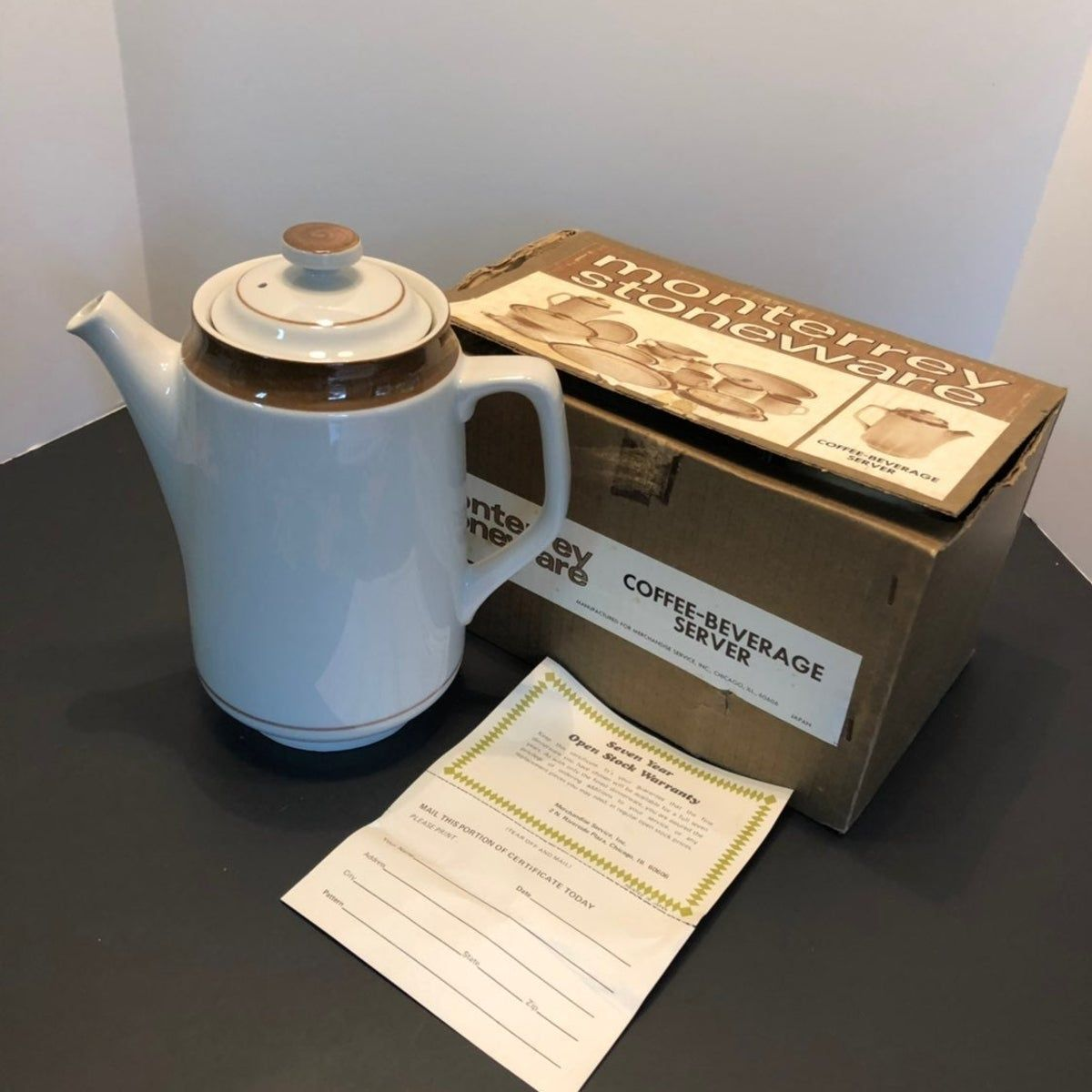 VTG Monterrey Stoneware Coffee Server #coffeeserver VTG Monterrey Stoneware Coffee Server #coffeeserver