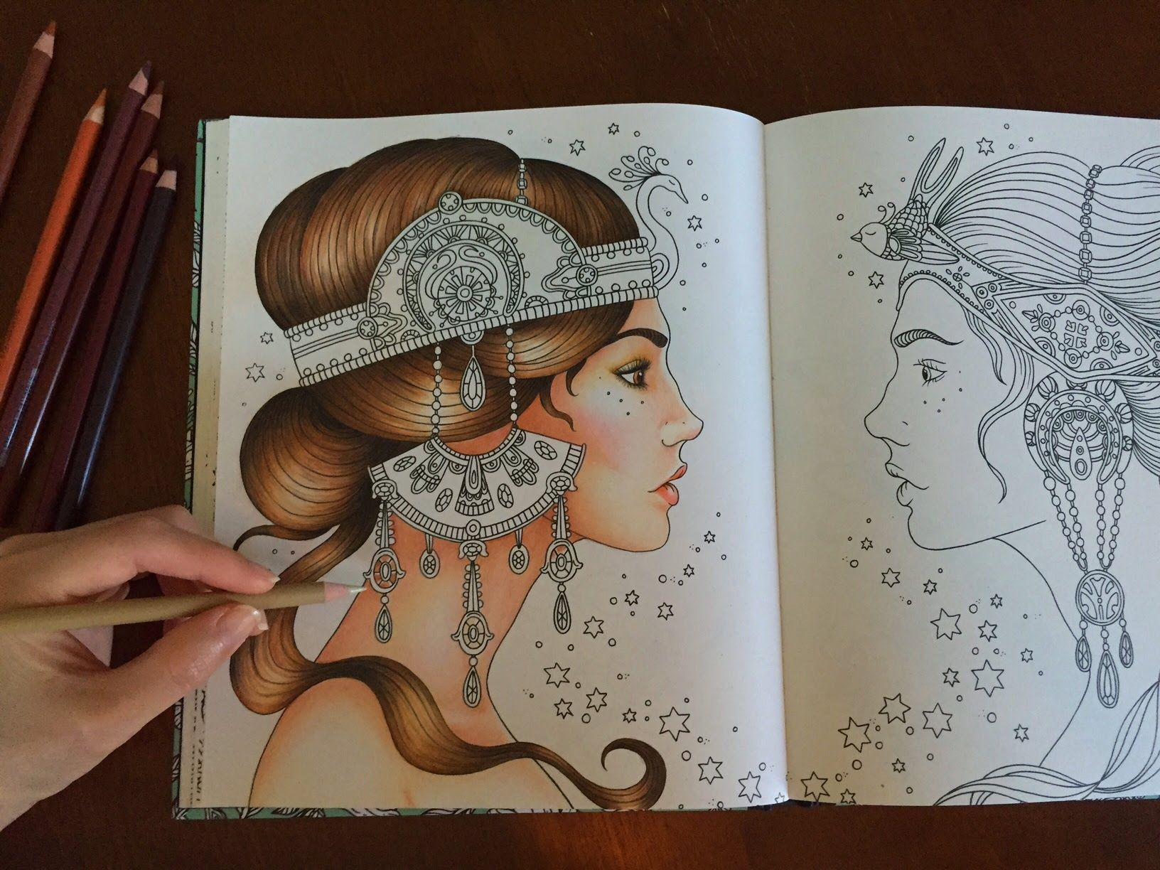 Coloring With Colored Pencils Coloring Book: Dagdrömmar / Daydreams ...