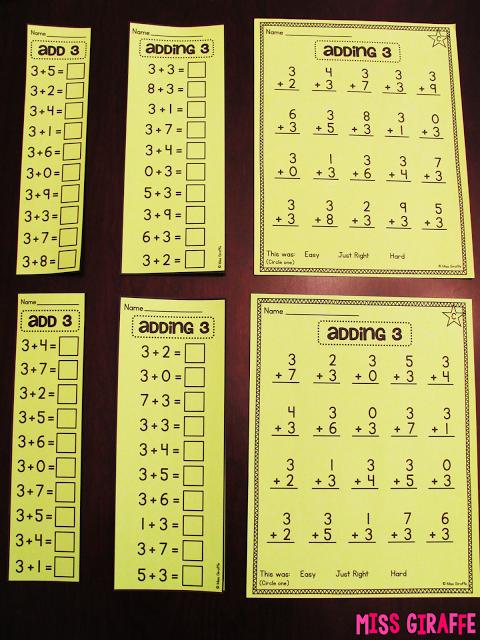 Fact Fluency in First Grade Math fact fluency, Math fact