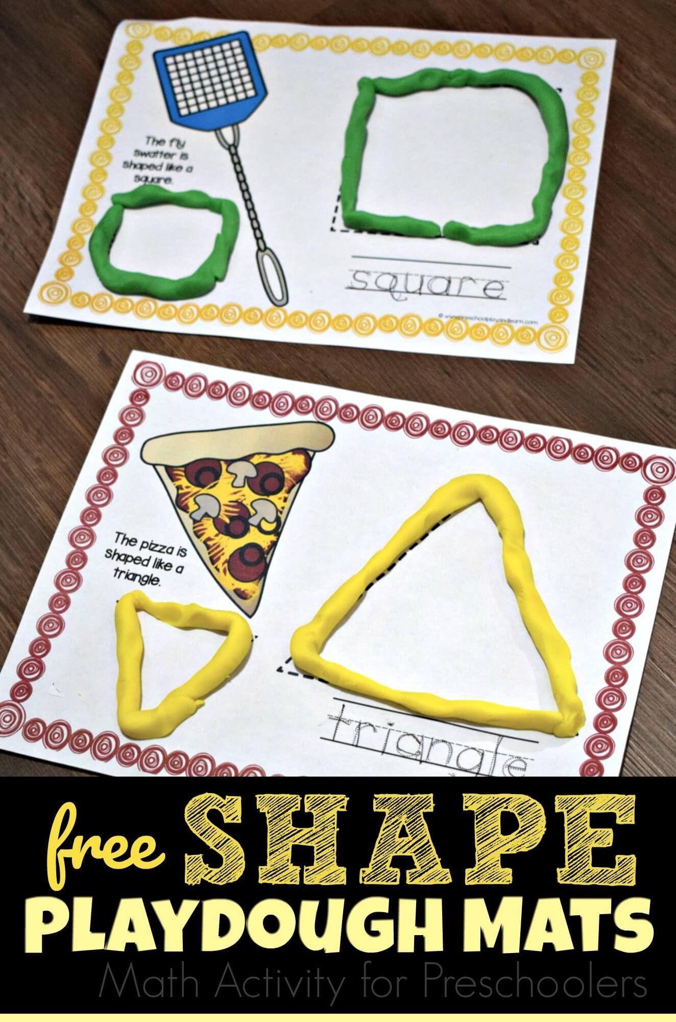 Free Shape Playdough Mats Are A Fun Hands On Math