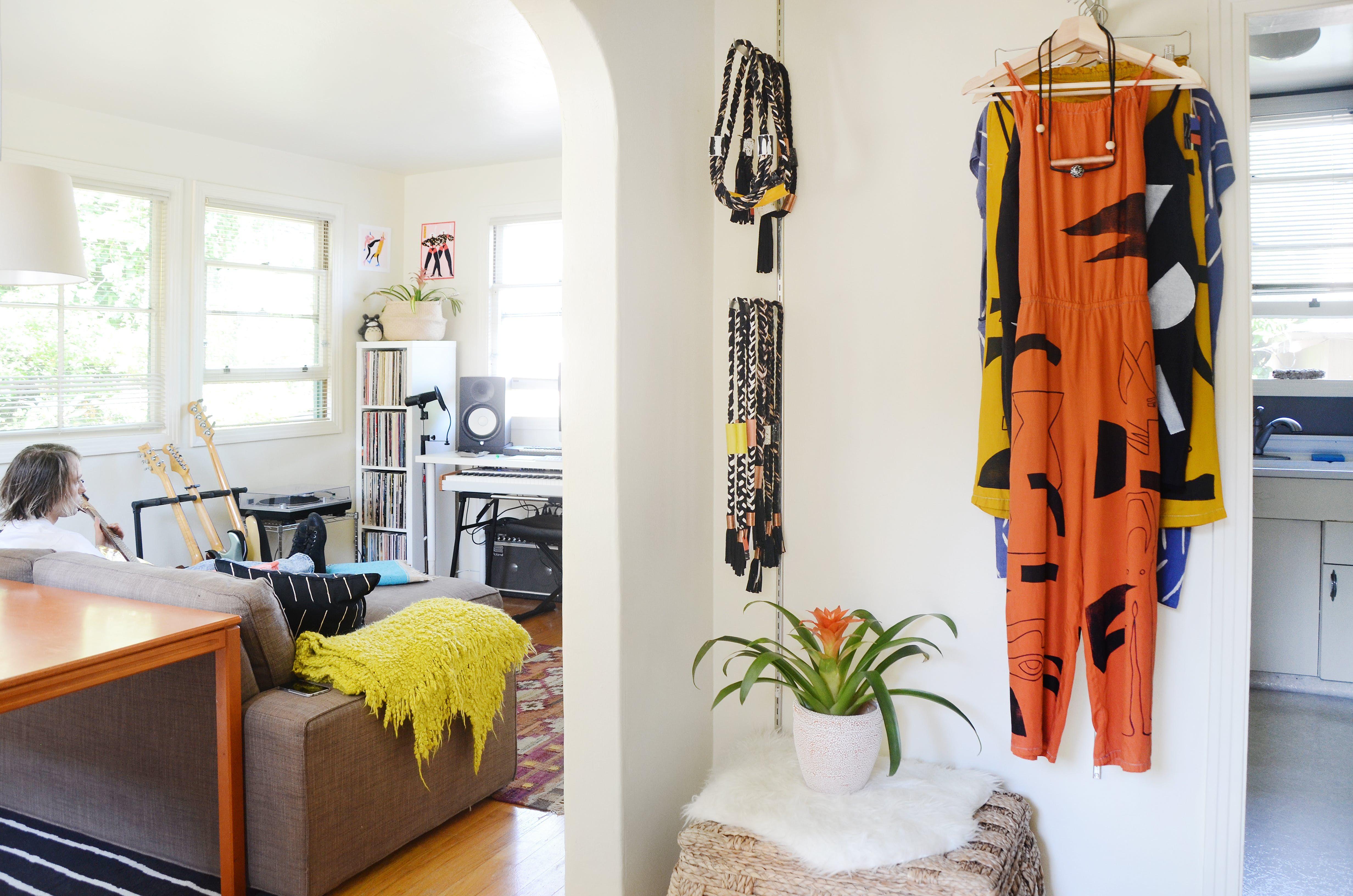 Tour a Home with Creative Energy and Tree House Charm | Studio setup ...