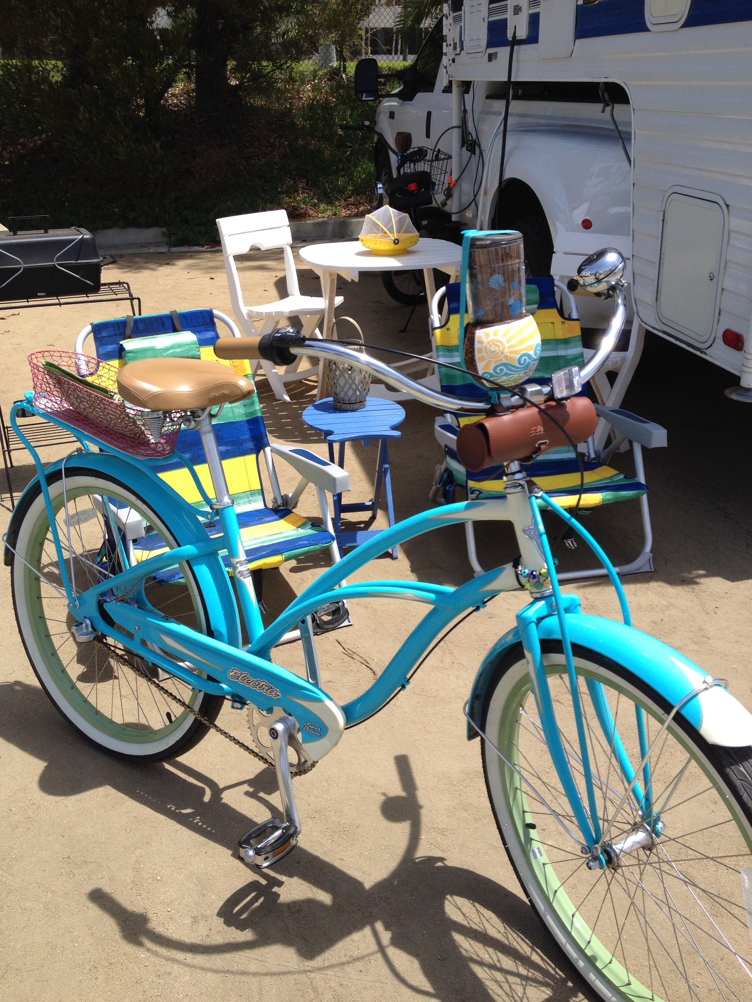 Golden Shore Rv Resort Is Conveniently Located On The Waterfront In Downtown Long Beach Rode My Electra Beach Cr Beach Cruiser Bicycle Cruiser Bike Beach Bike