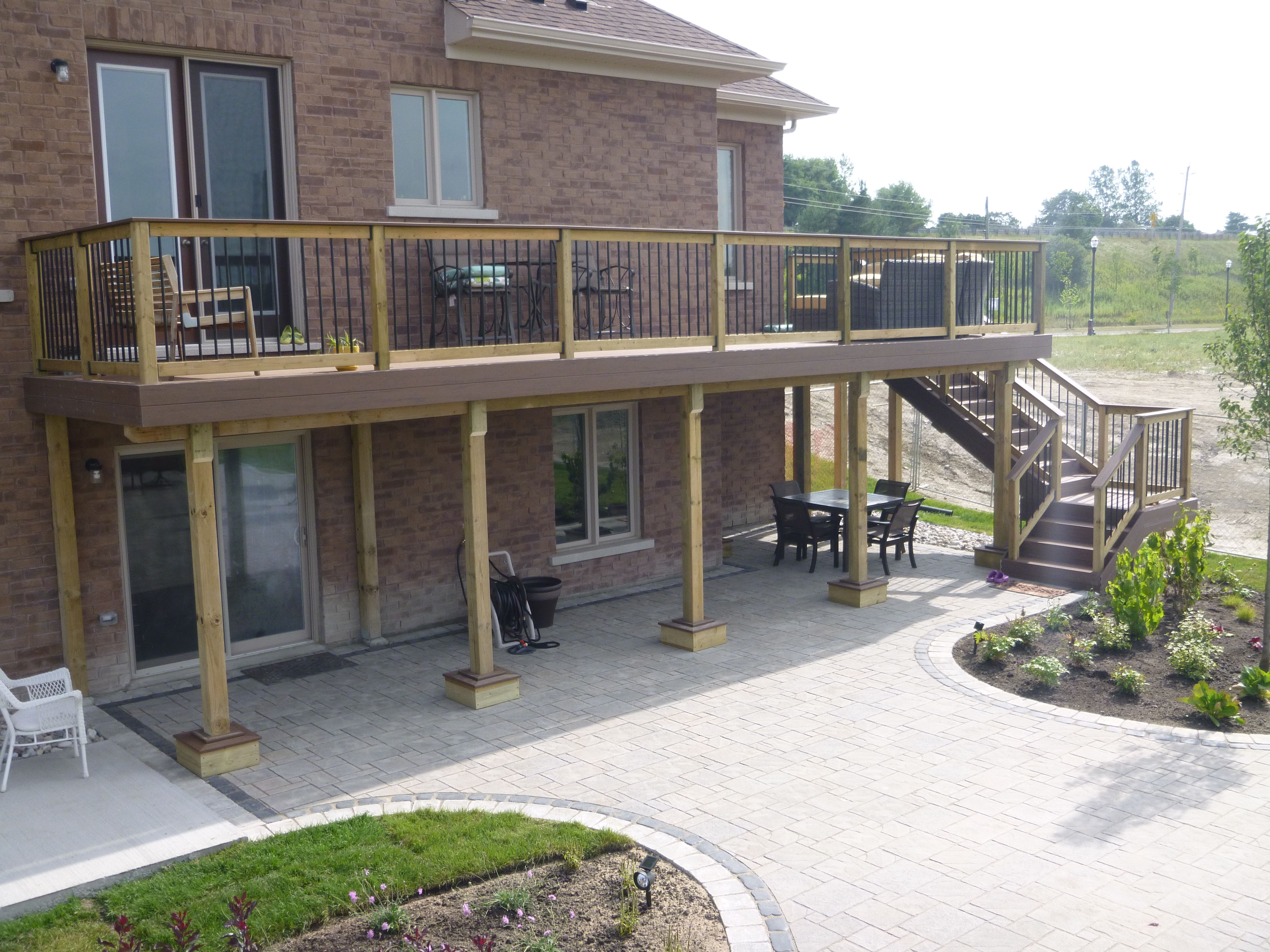 awesome deck over garage plans. Garage plans  High rise TT Terrain deck with awesome views large stone patio underneath