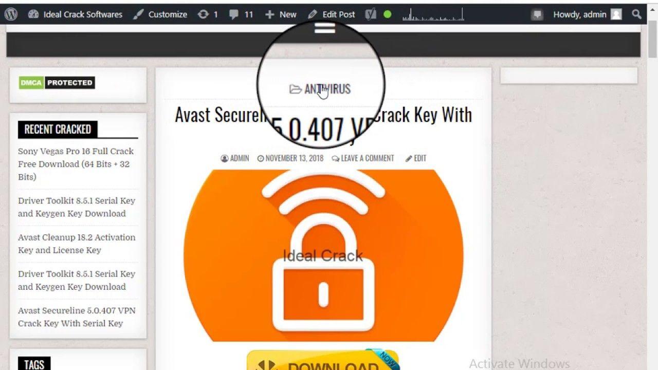 avast secureline vpn activation code 2019