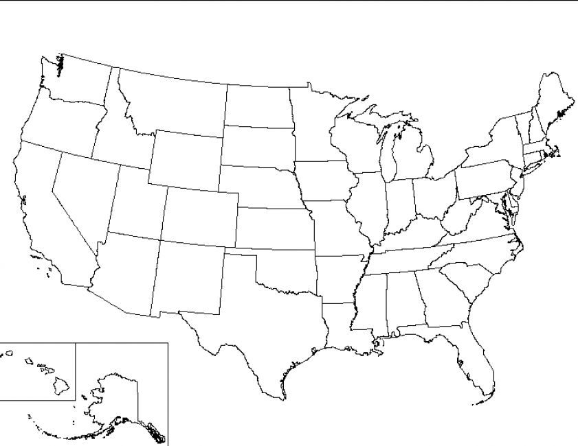 maps of the united states printable Printable map of united