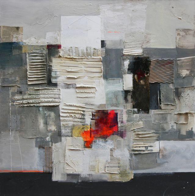 Montagna, Ester Maria Negretti, mixed media on canvas 100x100cm