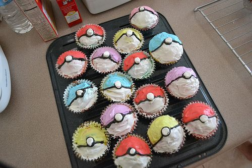 Pokéball cupcakes . . . This is happening!