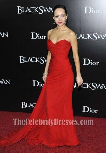 Ksenia Solo Red Chiffon Prom Dress New York Black Swan Premiere ...