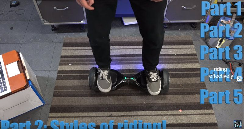 Learn How To Ride A Self Balancing Hoverboard Video Tips Hoverboards Repair Fix Vibrating Electric Scoote Hoverboard Scooter Balancing Scooter Hoverboard