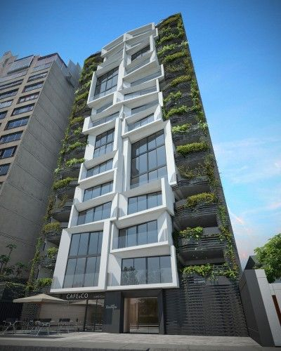 Architecture Design Residential loft tower / xte a+d | green building, building and architecture