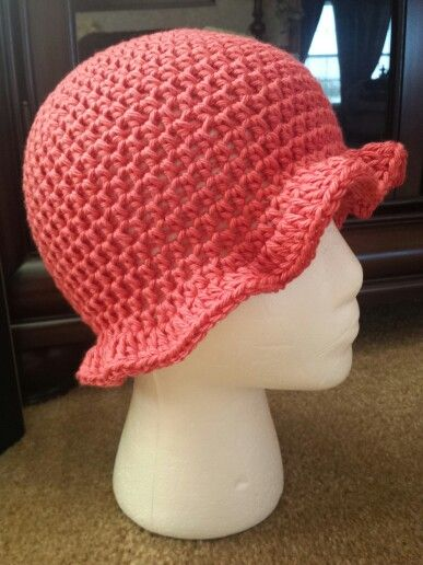 Pink Brim Hat For Cancer Patients Sc Hooked By Faith Non Profit