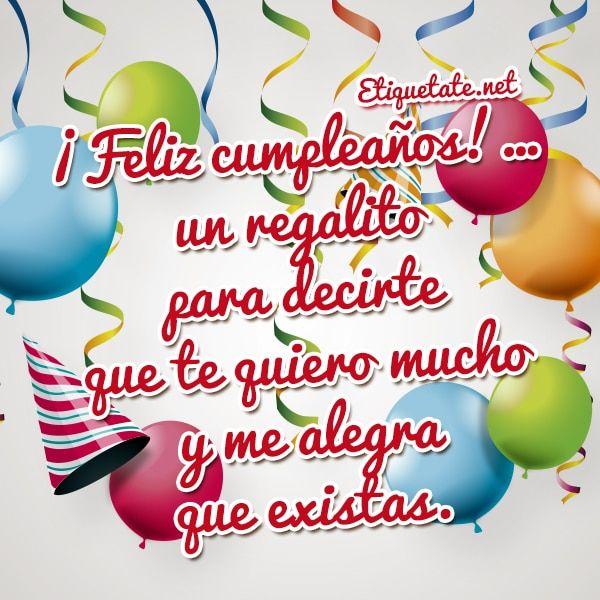 Tarjetas Para Descargar Gratis De Cumpleanos 1 Jpg 600 600 Spanish Birthday Wishes Happy Birthday Birthday Wishes