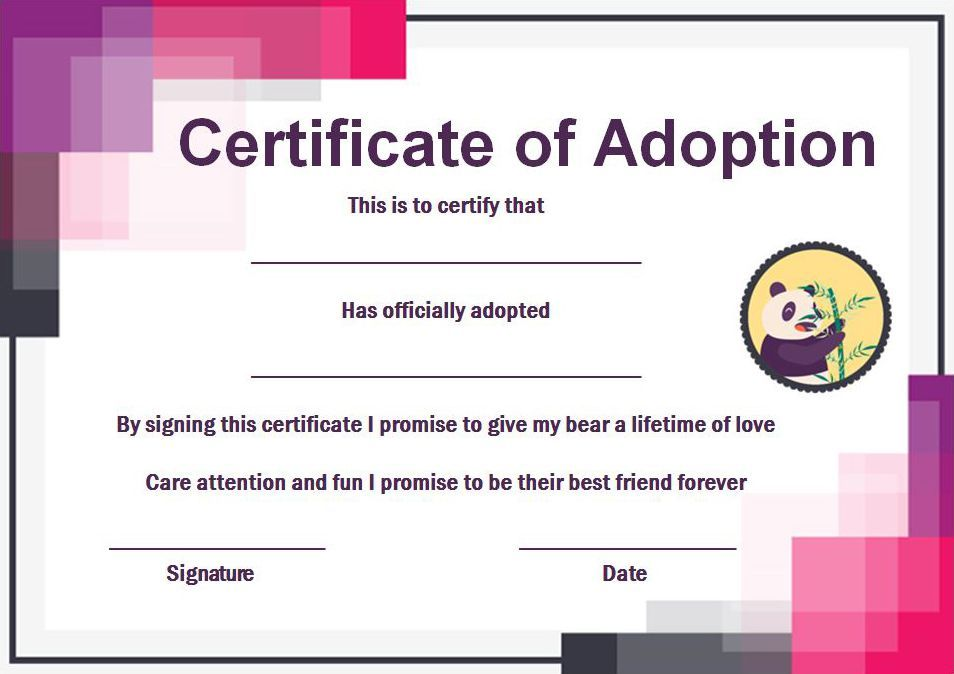 Build A Bear Certificate 13 Best And Attractive Templates Ready To Download Template Sumo Birth Certificate Template Certificate Templates Templates