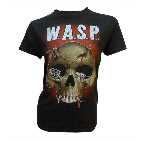 Vintage 1984 W.A.S.P. Debut Eponymous LP Tee Shirt (1.115 BRL) ❤ liked on Polyvore featuring tops, t-shirts, heavy metal t shirts, vintage metal t shirts, vintage tees, metal t shirts and metal top