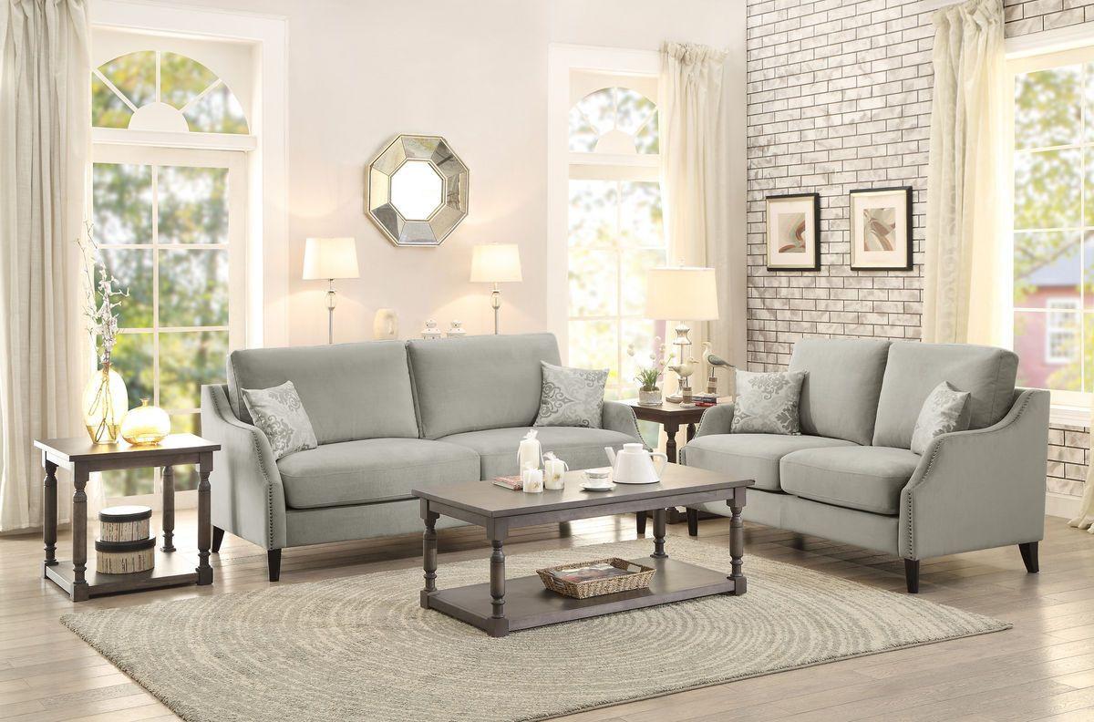Home elegance banburry pcs sofa u love seat set for