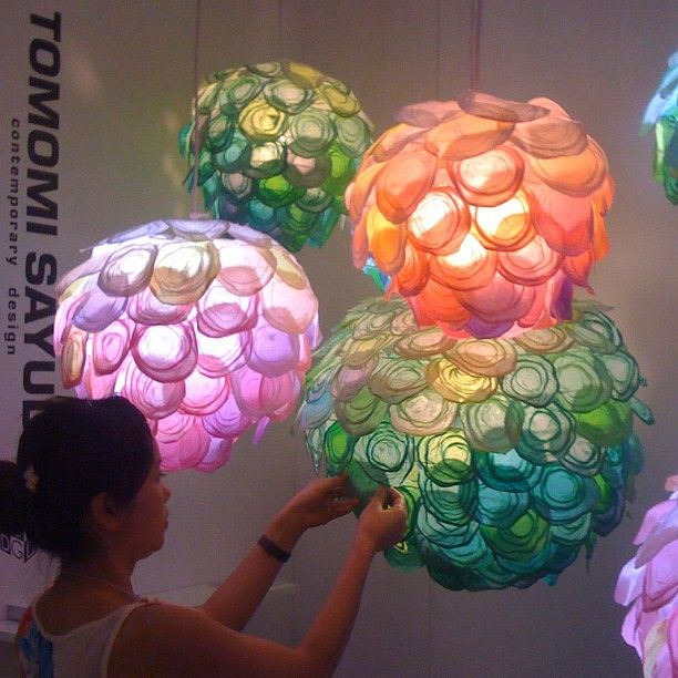 """Tomomi Sayuda's floral pendants @ICFF #NYDW, see also www.ow.ly/b1bnu by Sayuda"""