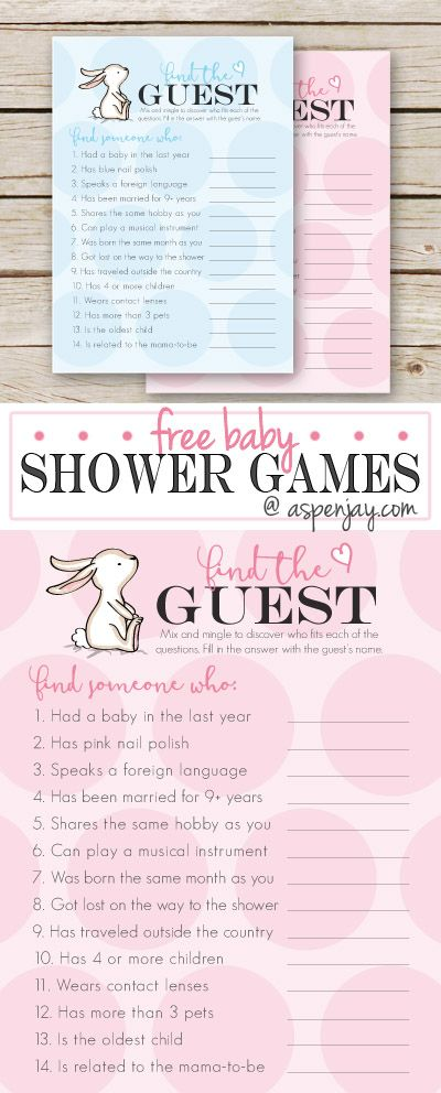 free baby shower game find the guest - Free Disney Games For 4 Year Olds