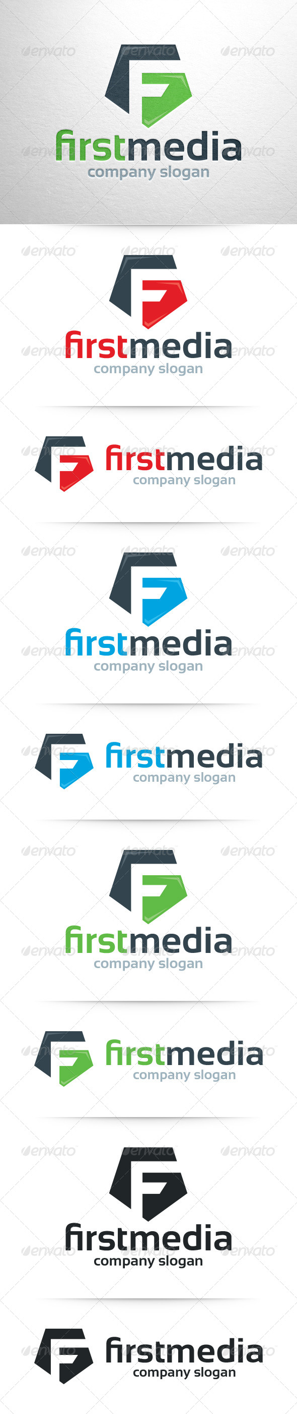 First Media  Letter F Logo  Logos Letter Logo And Template