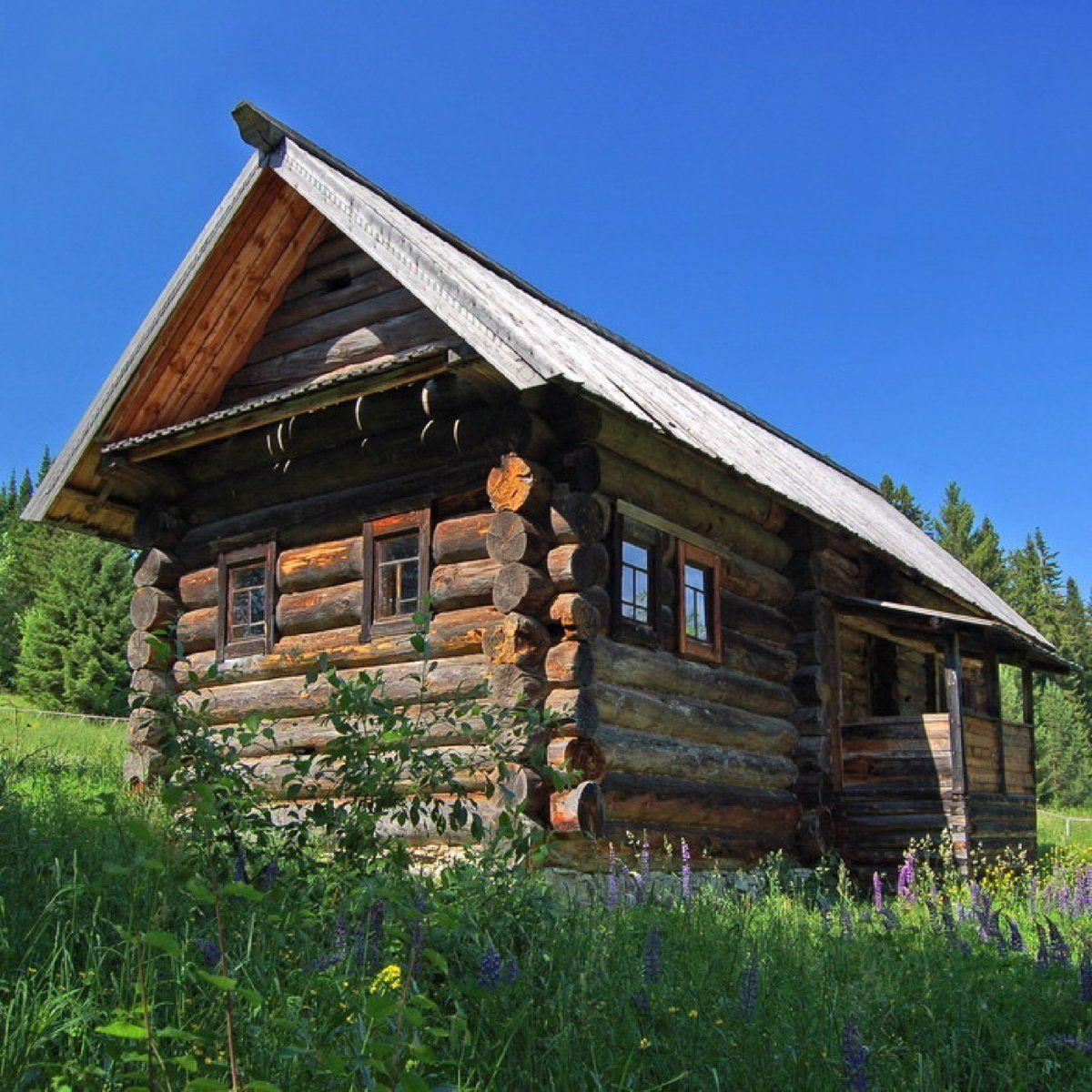 сихтинской картинки деревянного деревенского дома атласа