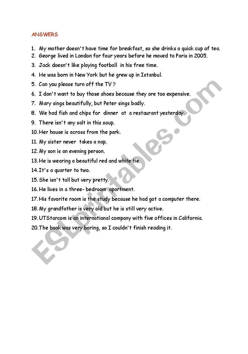 Paraphrasing Exercise Worksheet Vocabulary Skill Grammar And Worksheets For Students College Student Pdf High School Activitie Elementary