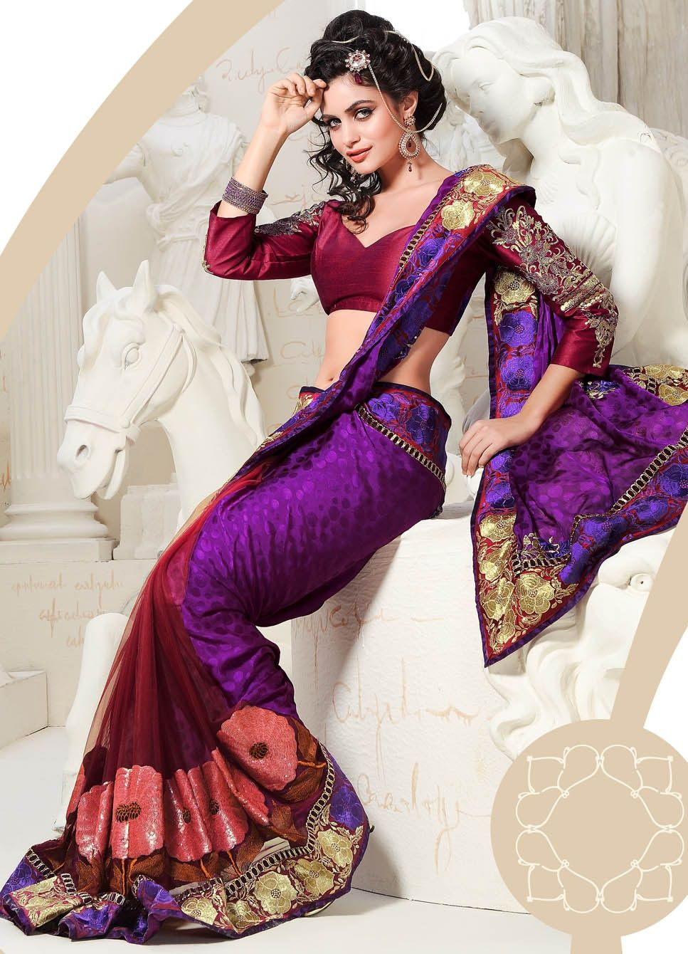 Purple Indian Wedding Dresses Is A Very Powerful Color Which Stands For Luxury Mysticism