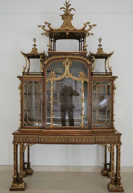 Authentic Chippendale Cabinet exemplifying the overly ornate designs Thomas  Chippendale enjoyed. Georgian FurnitureAntique ... - Authentic Chippendale Cabinet Exemplifying The Overly Ornate