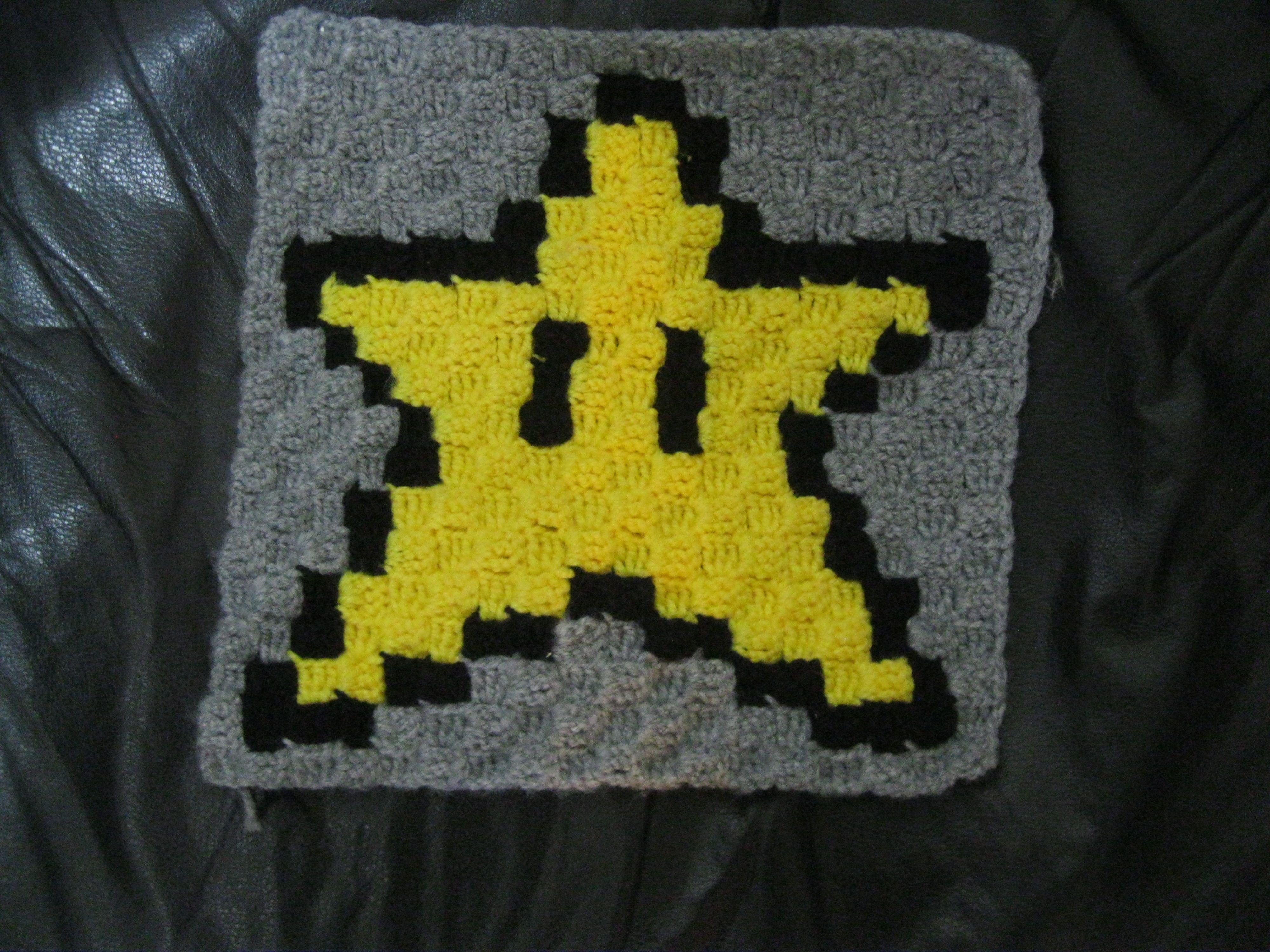 C2C Estrella Mario Bros Crochet | crochet | Pinterest | Mario bros ...