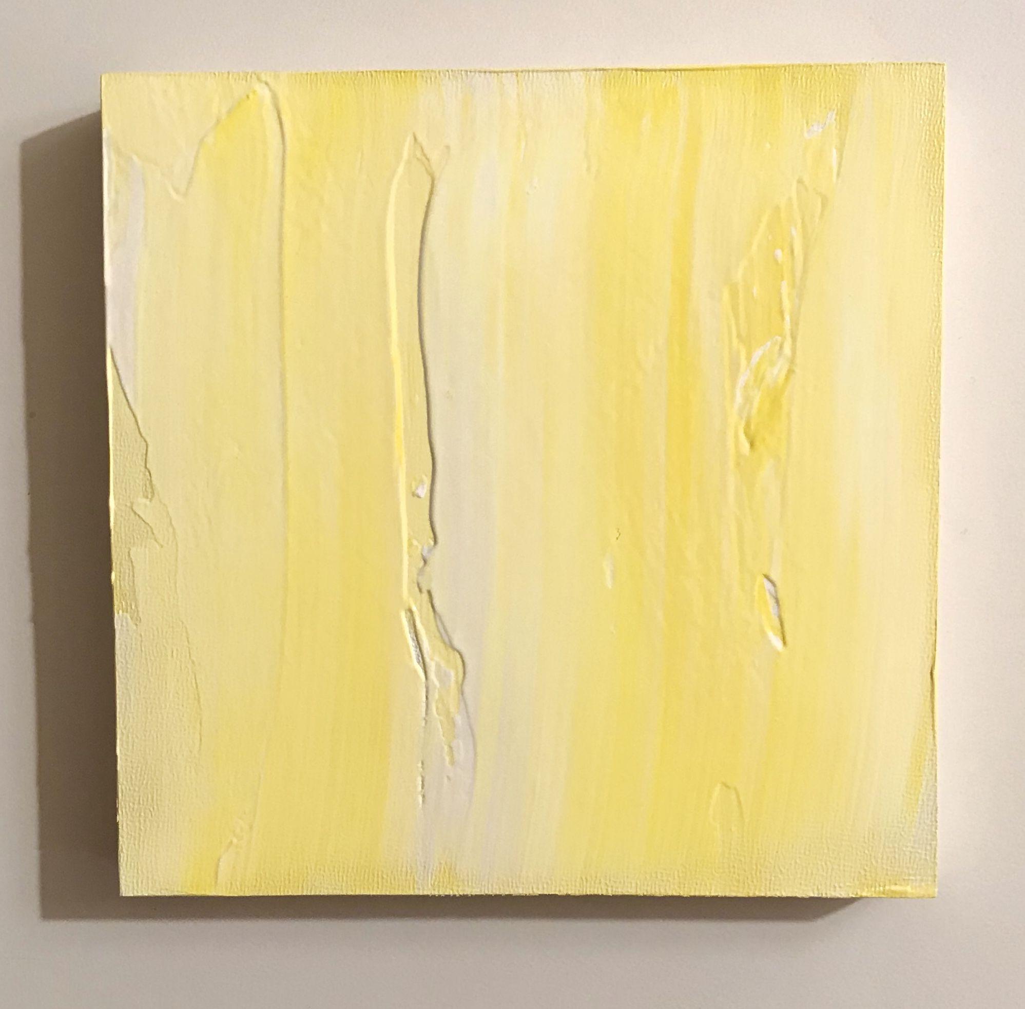 Jaclyn Mahmuljin, Acrylic Wood Block #Abstract #Art #Acrylic #Yellow #Sunshine