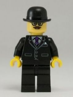 BrickLink Series 8 Minifigures.  Businessman.  Businessman?  Charlie Chaplin more like!