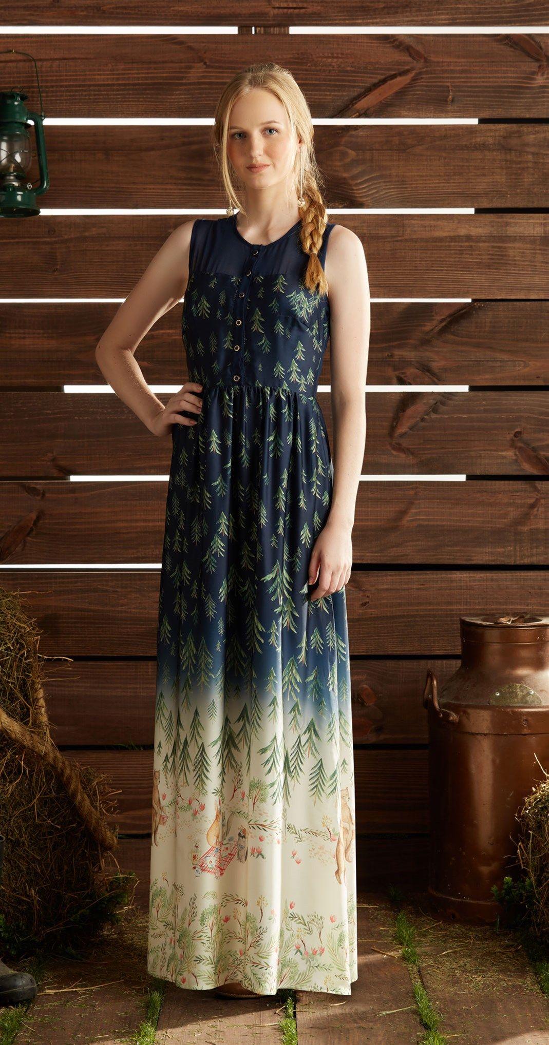 Só na Antix Store você encontra Vestido Longo Picnic com exclusividade na  internet 7d6feb51f2