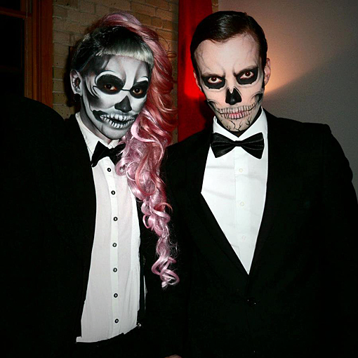 Lady gaga born this way video skeleton couples costume idea couples halloween costumes - Deguisement couple halloween ...