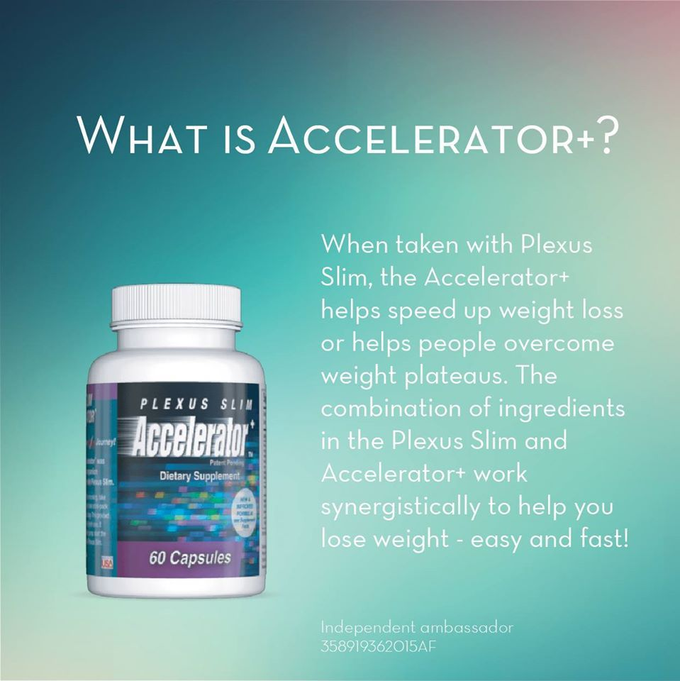Accelerator+ helps speed up weight loss and overcome weight plateaus. The combination of ingredients in Slim and Accelerator+ work synergistically to help you lose weight fast!*