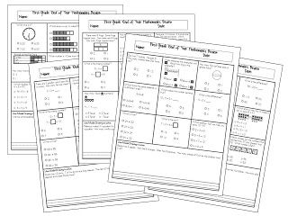 End of Year Mathematics Review Sheets, Set 1